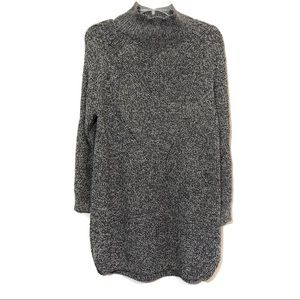 TopShop chunk knit mock neck tunic dress pullover